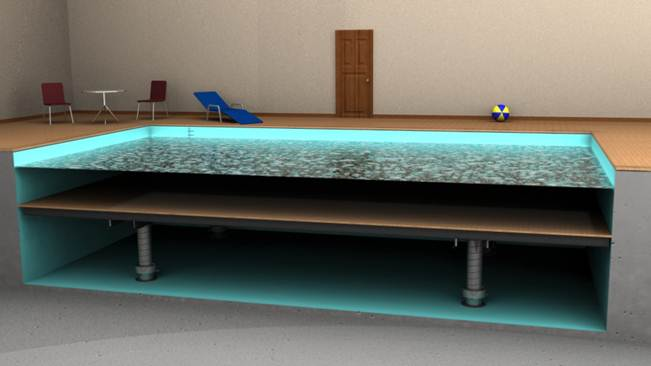 movable pool floor